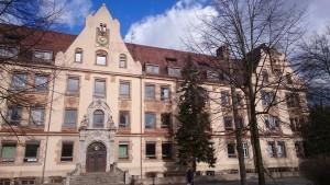 Der historische Gebäudeteil Försterbau beim Zentrum für Hörgeschädigte in Nürnberg